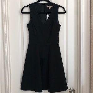 Banana Republic black fit flare dress size 0